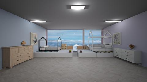 twin girl bedroom - Bedroom  - by Ellanaxo