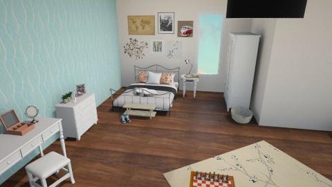 student bedroom - Vintage - Bedroom  - by Romana77
