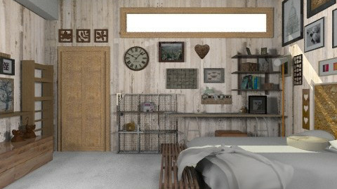 Concrete Bedroom - Minimal - Bedroom - by camilla_saurus