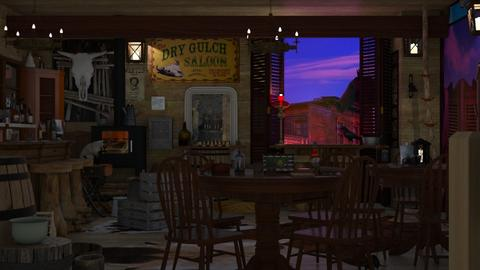 dry gulch saloon - by Teri Dawn