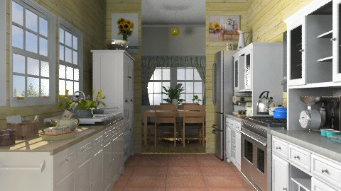 Galley kitchen - Country - Kitchen  - by milyca8