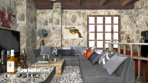 Cave MM - Modern - Living room  - by liling