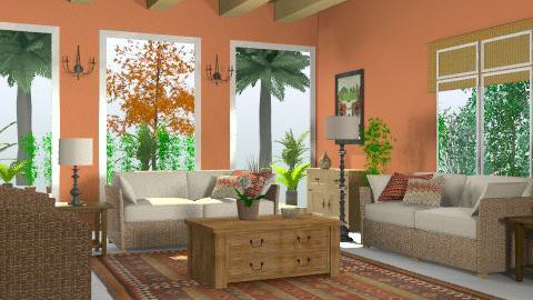 mexicanterracota1 - Rustic - Living room  - by Gulland