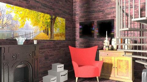 Wooden Living Room - Rustic - Living room  - by BambooPenguin