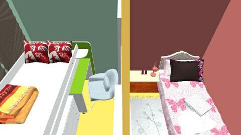 2 quartos  - Retro - Bedroom  - by Ester435
