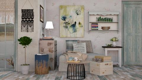 OAK - Vintage - Living room - by Sally Simpson