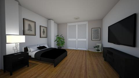 Black and white - Bedroom  - by Merily