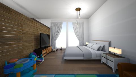 Modern bedroom_king bed - by saratevdoska