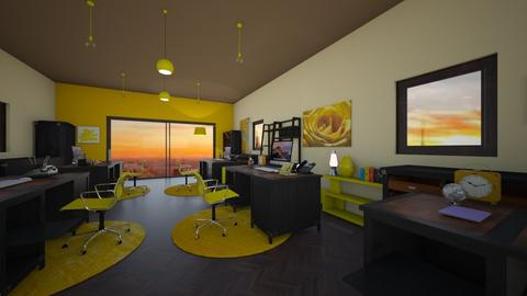 yellow vibes - Rustic - Office  - by BlackOrchidea