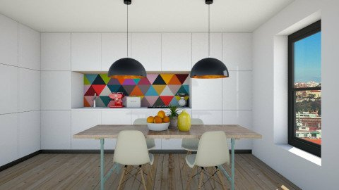 Geometric Kitchen - Modern - Kitchen  - by Maria Esteves de Oliveira