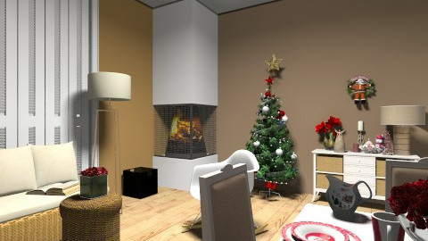 christmas - Vintage - Living room  - by dim