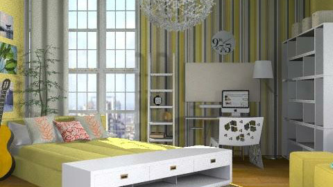 Sunny bedroom - Modern - Bedroom  - by ovchicha