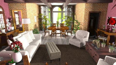 Falabella English Cottage - Living room - by St Augustus on the Cliff
