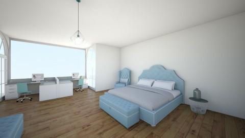 blue - Modern - Bedroom - by Mariana Ortiz
