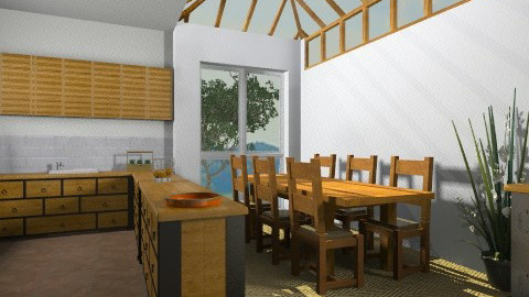 Rustic Kitchen Diner - Rustic - Kitchen  - by camilla_saurus