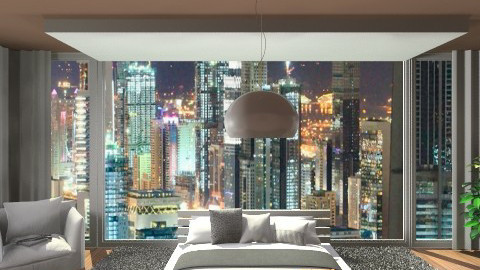 City apartment - Modern - Bedroom  - by Pattie_ann