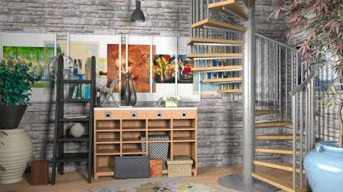 a young painter first studio - Eclectic - Office  - by lavilavinia