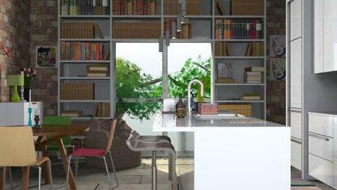 urban kitchen - Retro - Kitchen  - by yasemin04