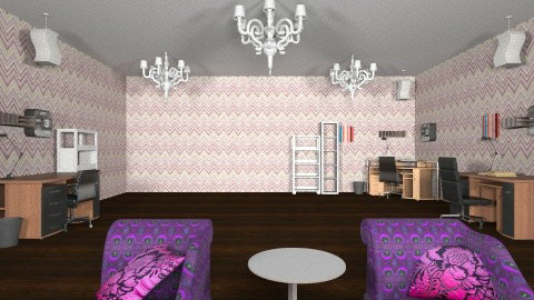 purple room - Eclectic - Office  - by soccergal1