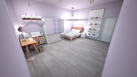 pink bedroom - Feminine - Bedroom - by the ice magical unicorn