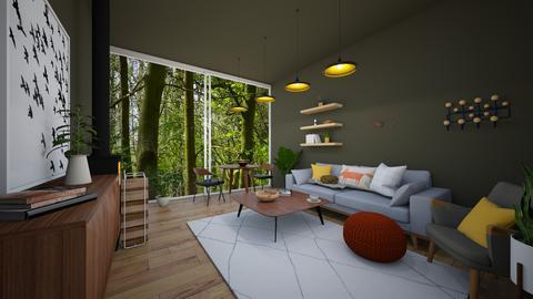 scandi forest hut - Minimal - Living room  - by Happyspaniel