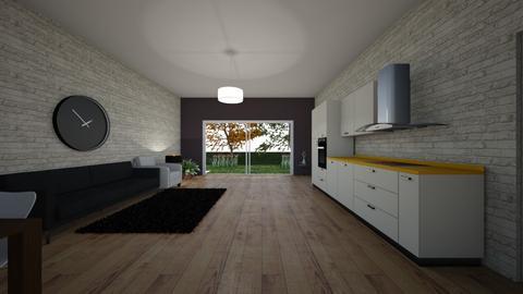 Spokojny salon - Living room  - by gamewiner