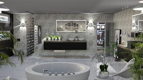 City Lights White Version - Retro - Bathroom  - by LuzMa HL