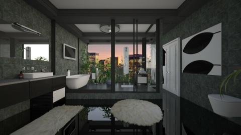 penthouse bath - Bathroom  - by tiffmonaee