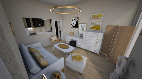 Gold Modern Studio - Glamour - Living room - by KajsaRain