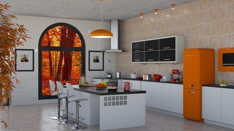 Autumn Kitchen 8th room - Kitchen  - by shoalehnia