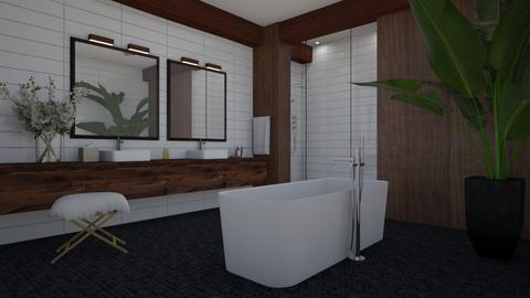 Dark wood - Bathroom  - by Tuija