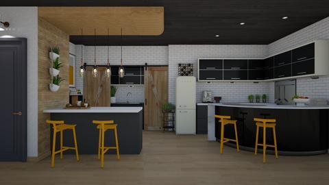 Island Lights - Modern - Kitchen  - by Nicky West