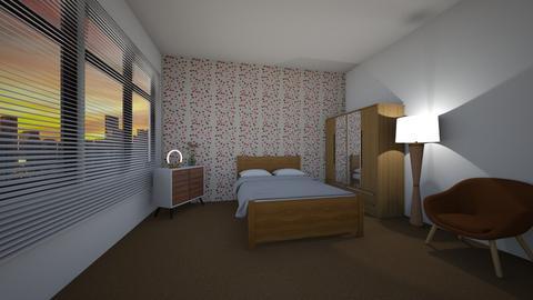 BW - Retro - Bedroom  - by Twerka