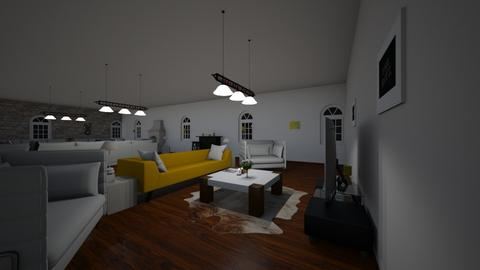 Modern Yellow living room - Modern - Living room  - by Lilice
