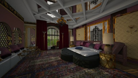 Bedroom 6 - Rustic - Bedroom  - by ZsuzsannaCs