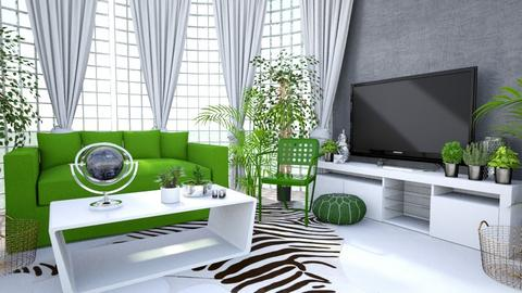 Urban Jungle Living Room - Living room - by amyskouson