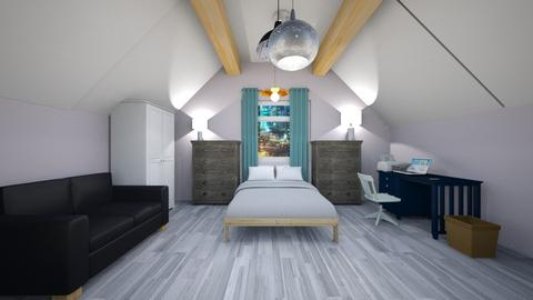 attic bedroom - Rustic - Bedroom  - by the ice magical unicorn