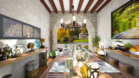 Rustic Dining - Rustic - Dining room  - by camilla_saurus