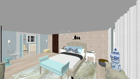 Chambre - Country - Bedroom  - by anmcquilllen