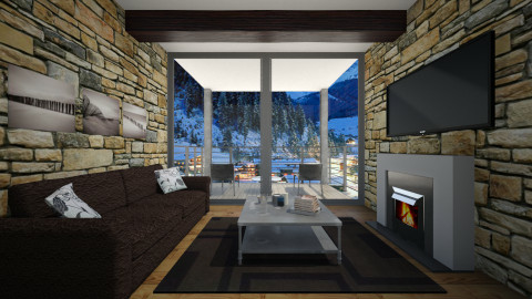 Show The Ski Resort - Living room - by Nicoo Duport