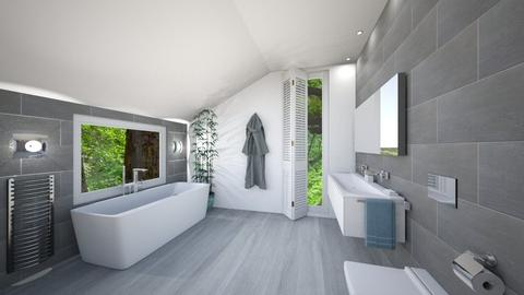 attic bathroom - by chloelm92
