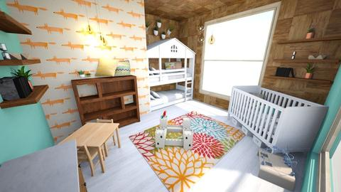 Woodland Themed Kids' Room - Rustic - Kids room  - by Rebekah Pincock