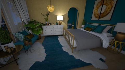 Studio Turq Bedroom - Bedroom - by Sherma