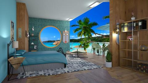 beach paradise - Feminine - Bedroom  - by BlackOrchidea