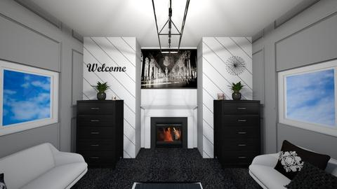 Black and White Lounge - Living room  - by deleted_1611429780_bobtastic8