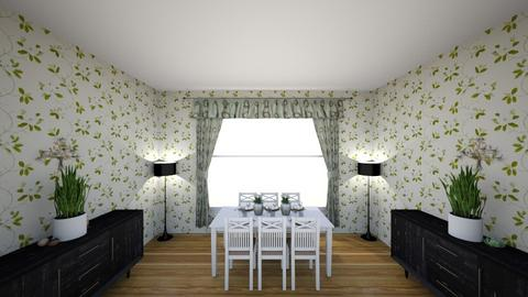 Green Spring Dining - Retro - Dining room  - by aubriconradt820