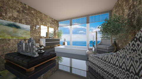 bath gr island - Eclectic - Bathroom  - by peterlo