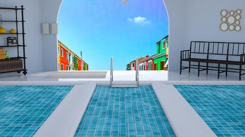 hotel pool - by Bluestripes