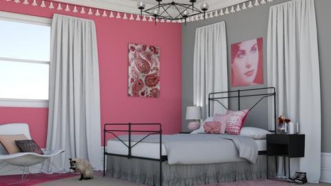 Pink Teen Bedroom - Bedroom  - by laurenpoisner