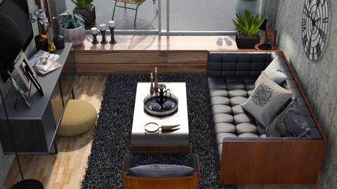 Black and tan  - Modern - Living room  - by augustmoon